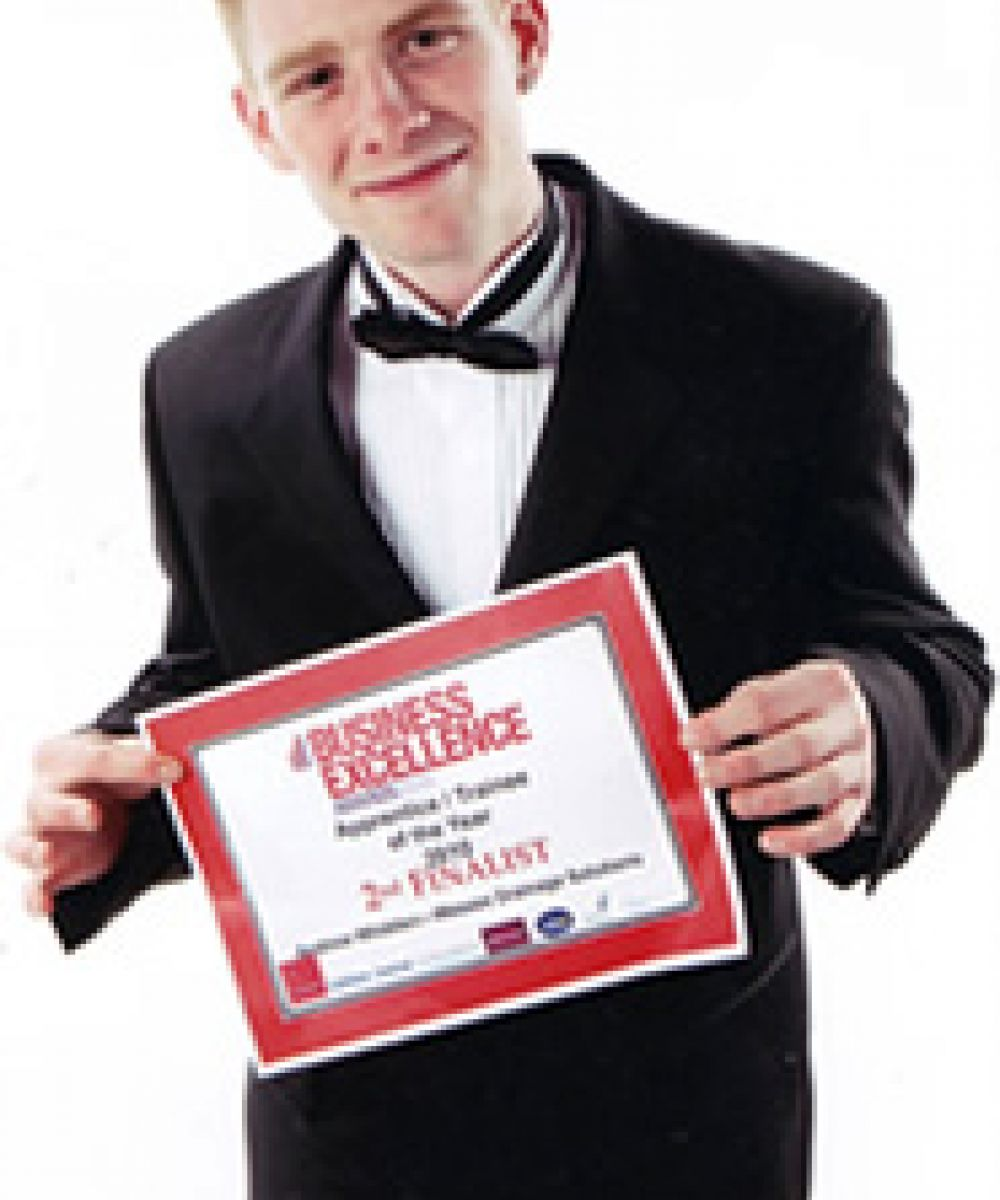 1 Andrew Whidden, Finalist at the 2010 Business Excellence Award